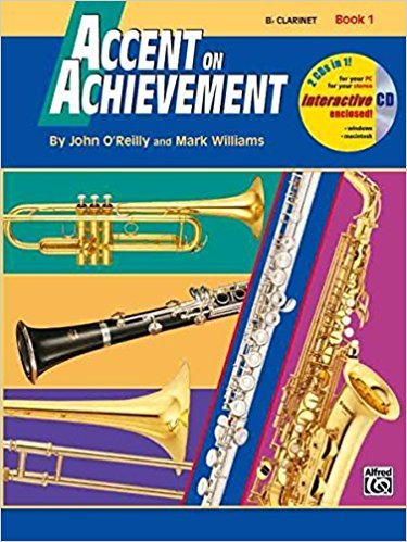 Accent on Achievement B Clarinet Book 1 & CD