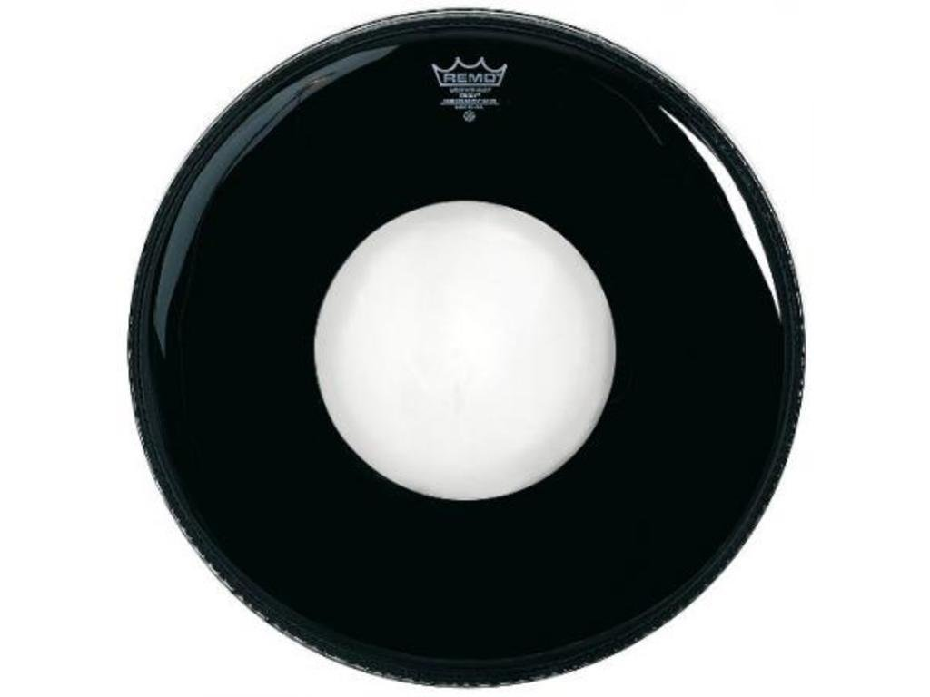 REMO  Ambassador Ebony Bass 10 Center Hole 22 Drum Head