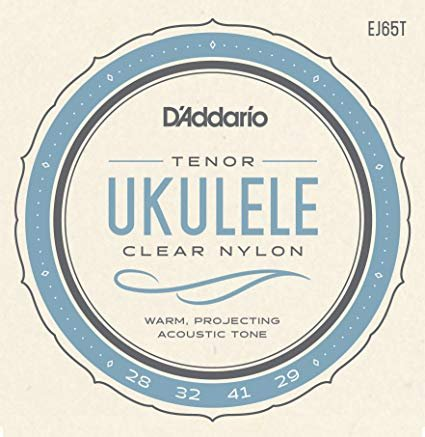 D'addario  Tenor Ukulele Strings Clear Nylon