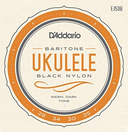 D'addario Baritone Ukulele Strings Black Nylon
