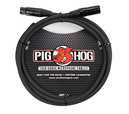 PIG HOG PHM6 8MM MIC CABLE, 6 FT FEMALE XLR MALE XLR