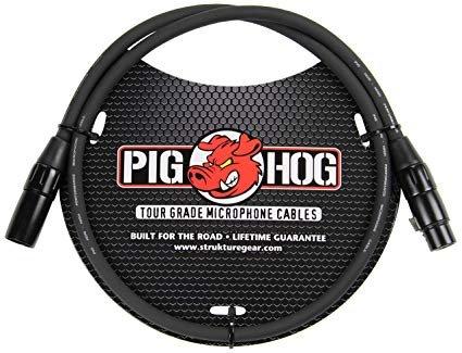 PIG HOG PHM3 8MM MIC CABLE , 3 FT FEMALE XLR MALE XLR
