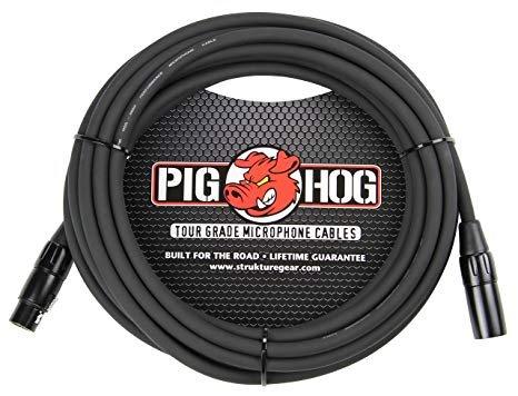 PIG HOG PHM15 8MM MIC CABLE, 15 FT FEMALE XLR MALE XLR