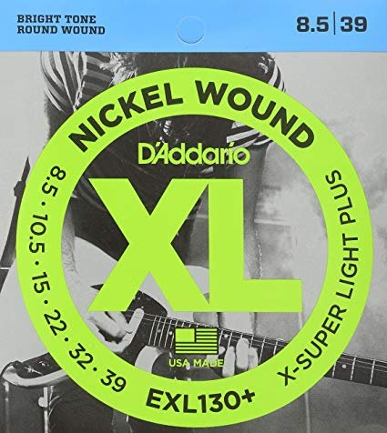 D'Addario EXL130+ Nickel Wound Electric Guitar Strings, Extra-Super Light Plus, ...