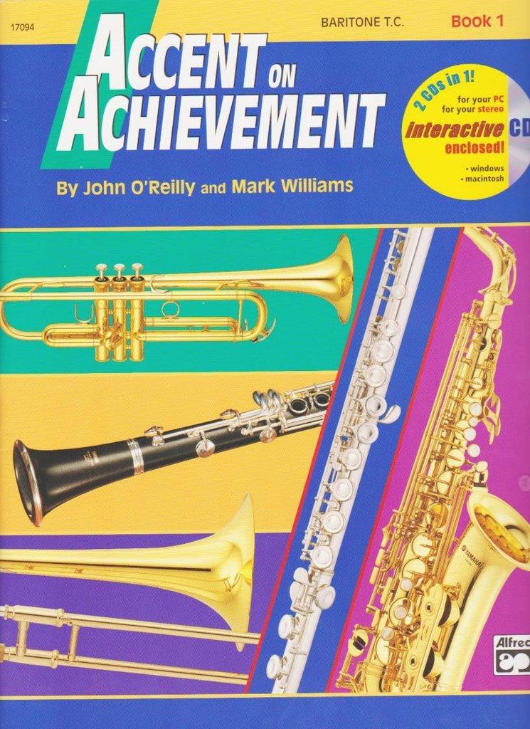 Accent on Achievement Baritone T.C Book 1 & CD