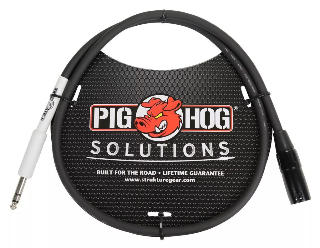 PIG HOG CABLE - XLR(M) to 1/4 TRS, 3FT