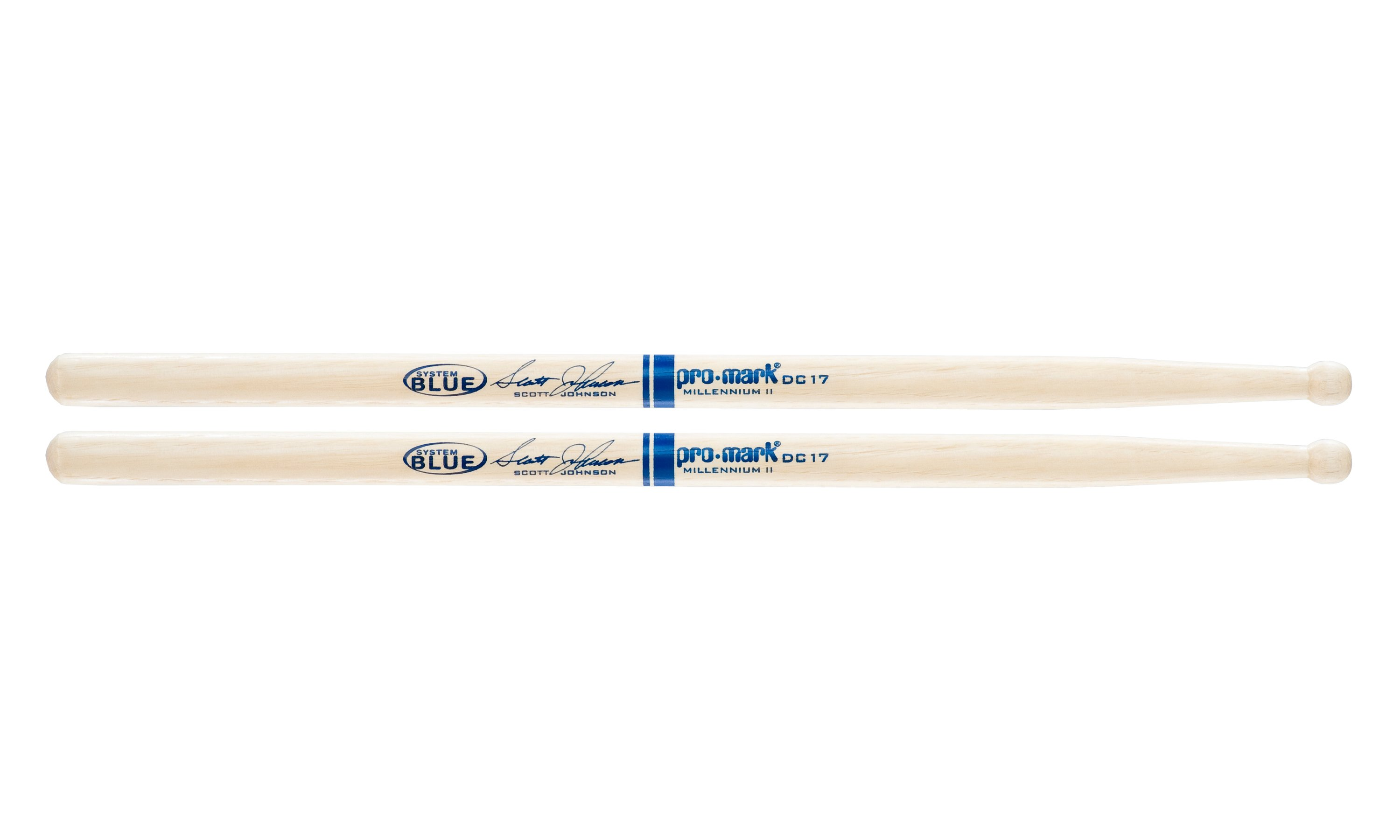 Promark Hickory DC17 Scott Johnson Wood Tip drumstick