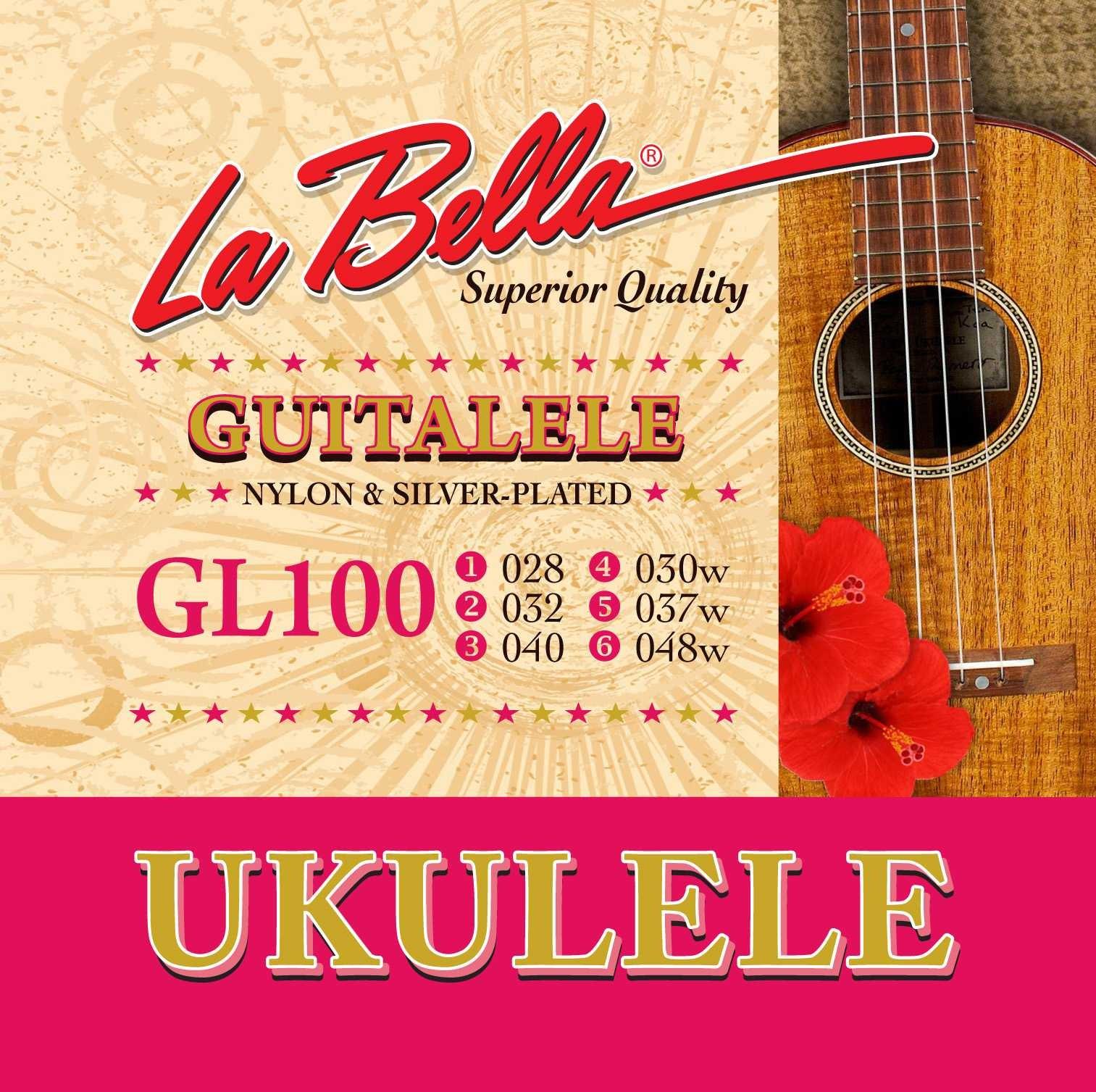 La Bella GL100 Guitalele Nylon & Silver-Plated Strings