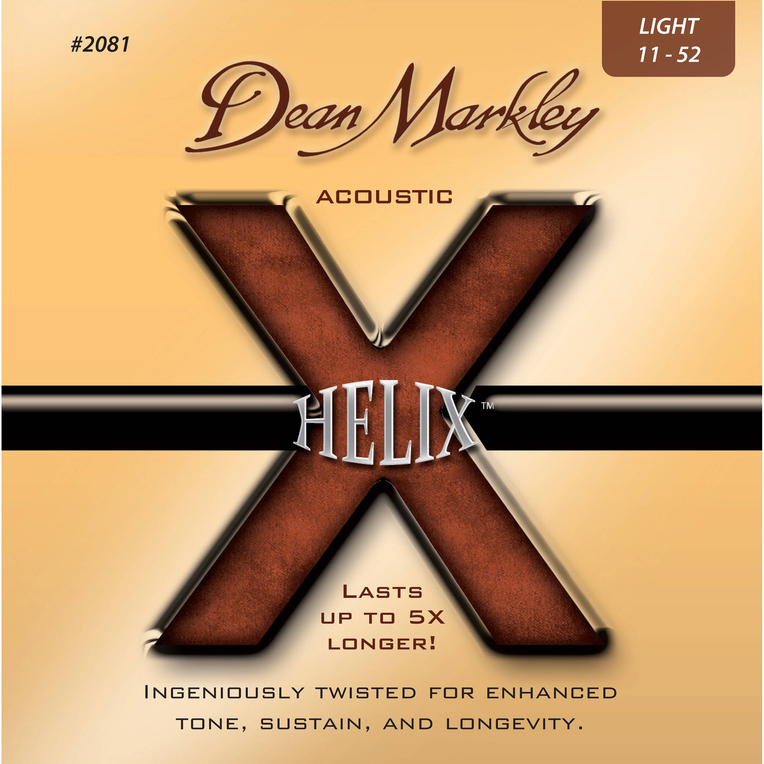 Dean Markley Helix 2081 11-52 Light Acoustic Strings