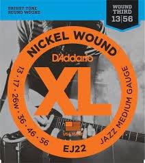 D'Addario EJ22 XL Jazz medium Nickel Wound .13-56