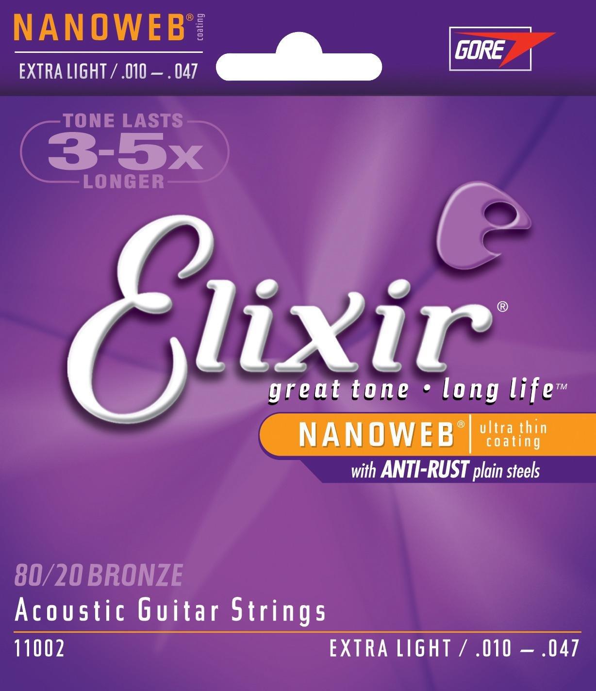 Elixir 11002 Acoustic Guitar Strings