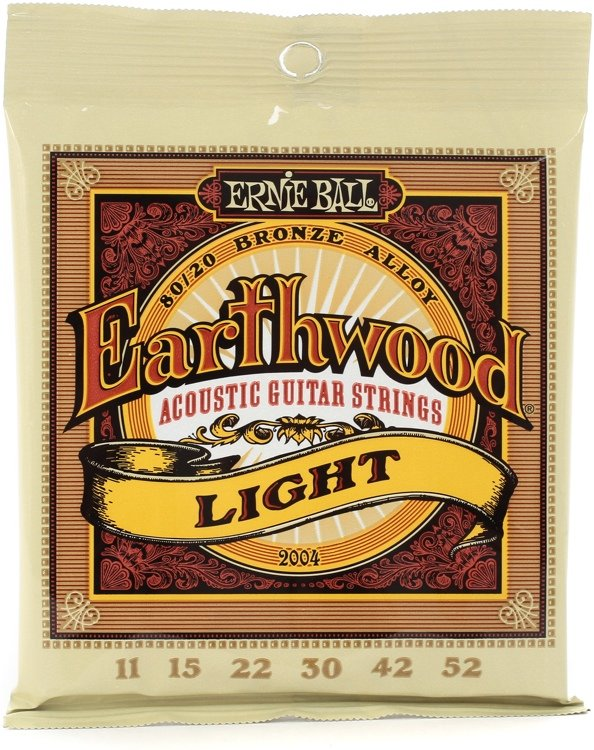Ernie Ball Earthwood 2004 Light 11/52 80/20 Bronze Alloy