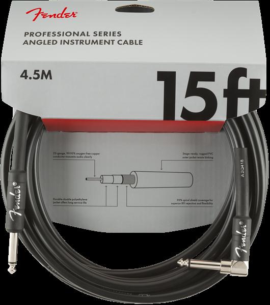 Fender 15ft black 4.5 Instrument Cable