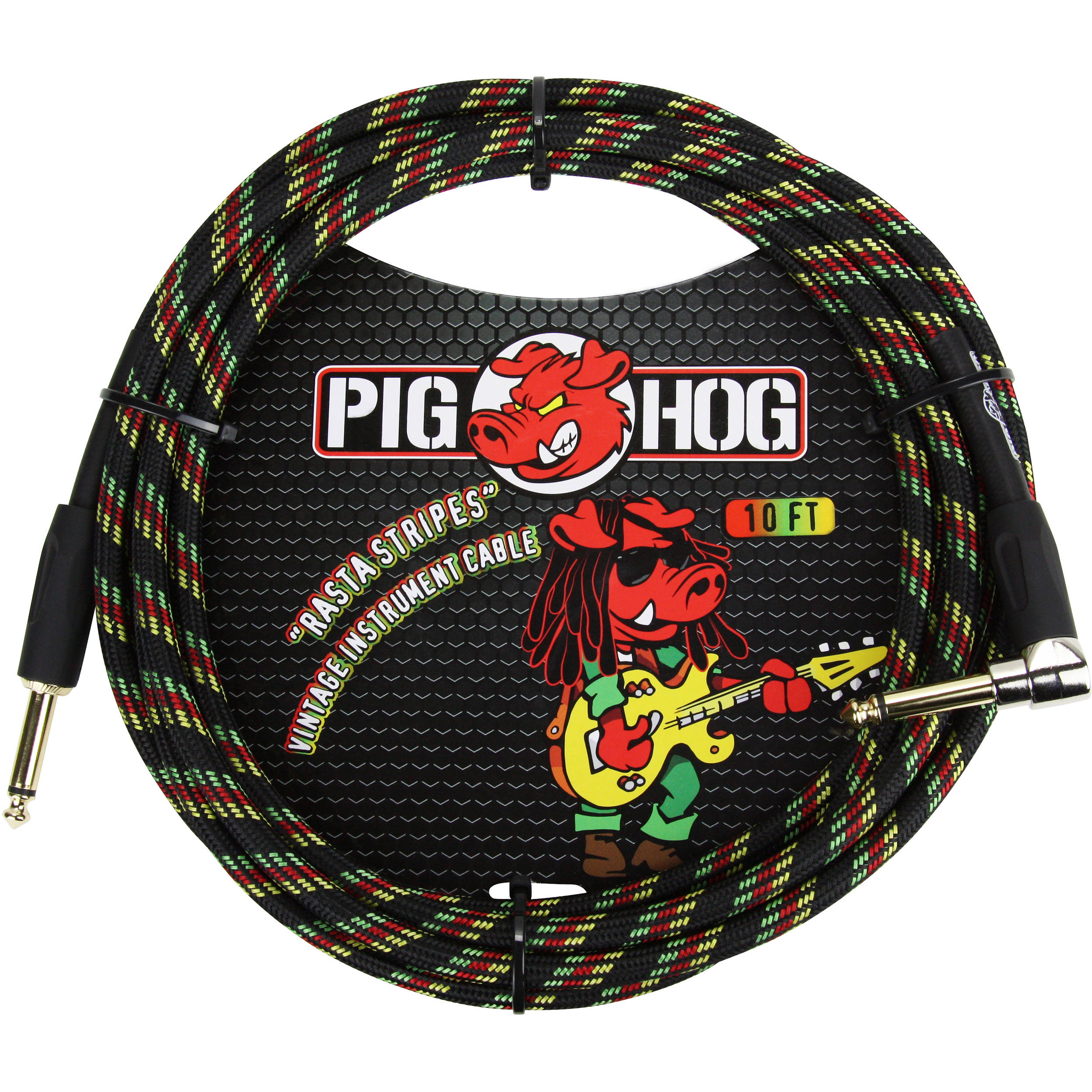 PIG HOG 10 FT RASTA STRIPES