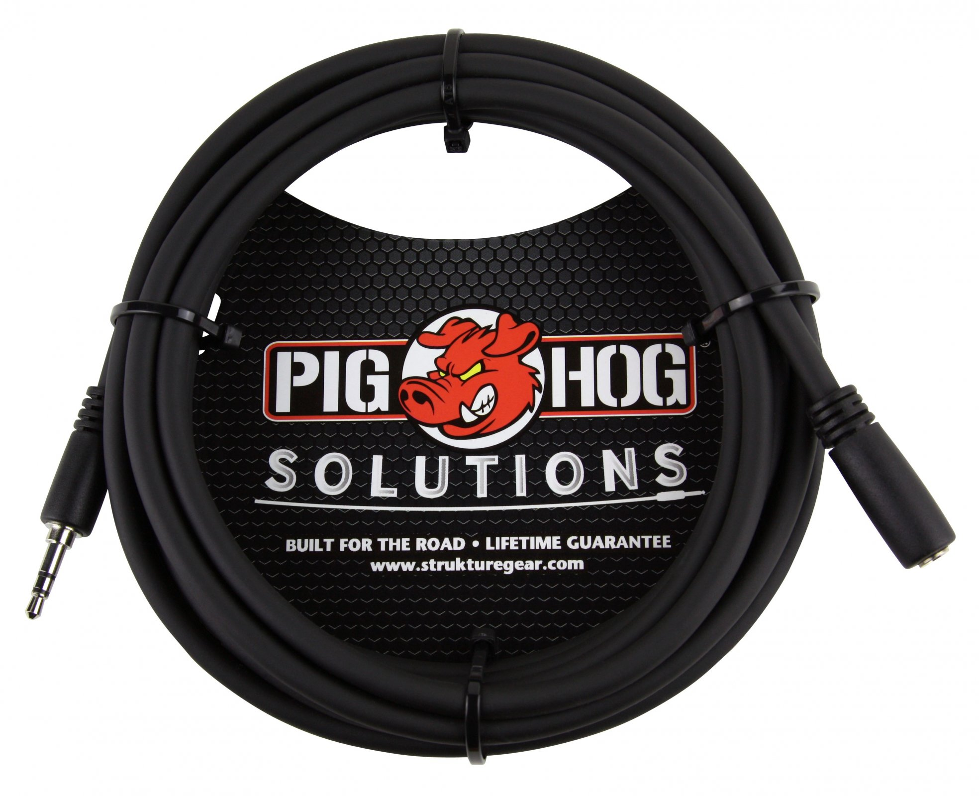 PIG HOG HEADPHONE EXT CABLE 3.5MM TRS(M)-3.5MM TRS(F),10FT