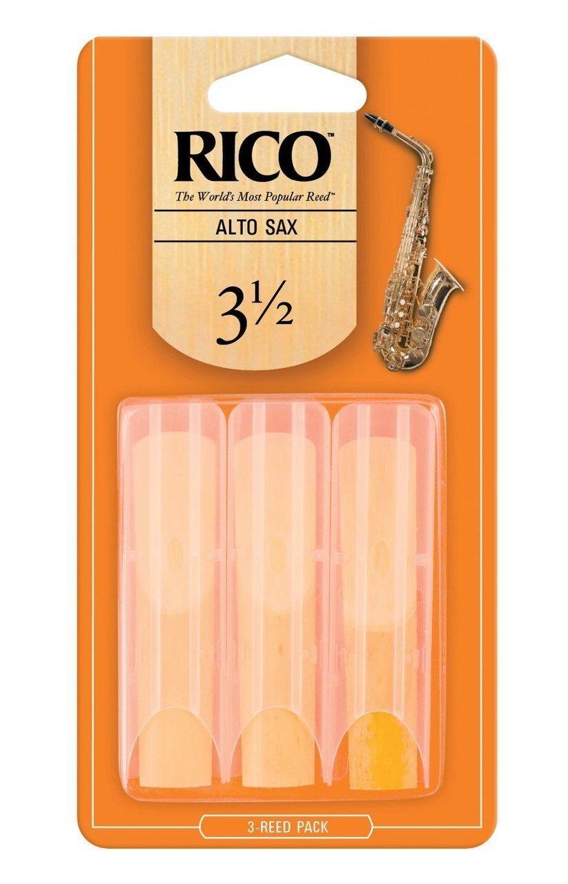 Rico by D'Addario Alto Sax Reeds, Strength 3.5, 3-pack