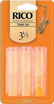 Rico by D'Addario Tenor Sax Reeds, Strength 3.5, 3-pack