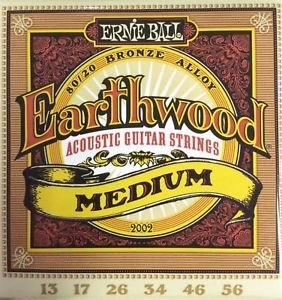 Ernie Ball Earthwood 2002 Medium 13-56 80/20 Bronze Alloy
