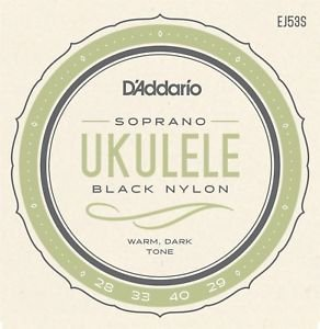 D'addario Soprano Ukulele Strings Black Nylon