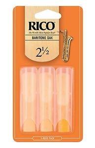 Rico by D'Addario Baritone Sax Reeds, Strength 2.5, 3-pack