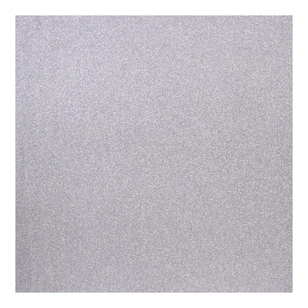American Crafts POW Glitter Paper-Silver