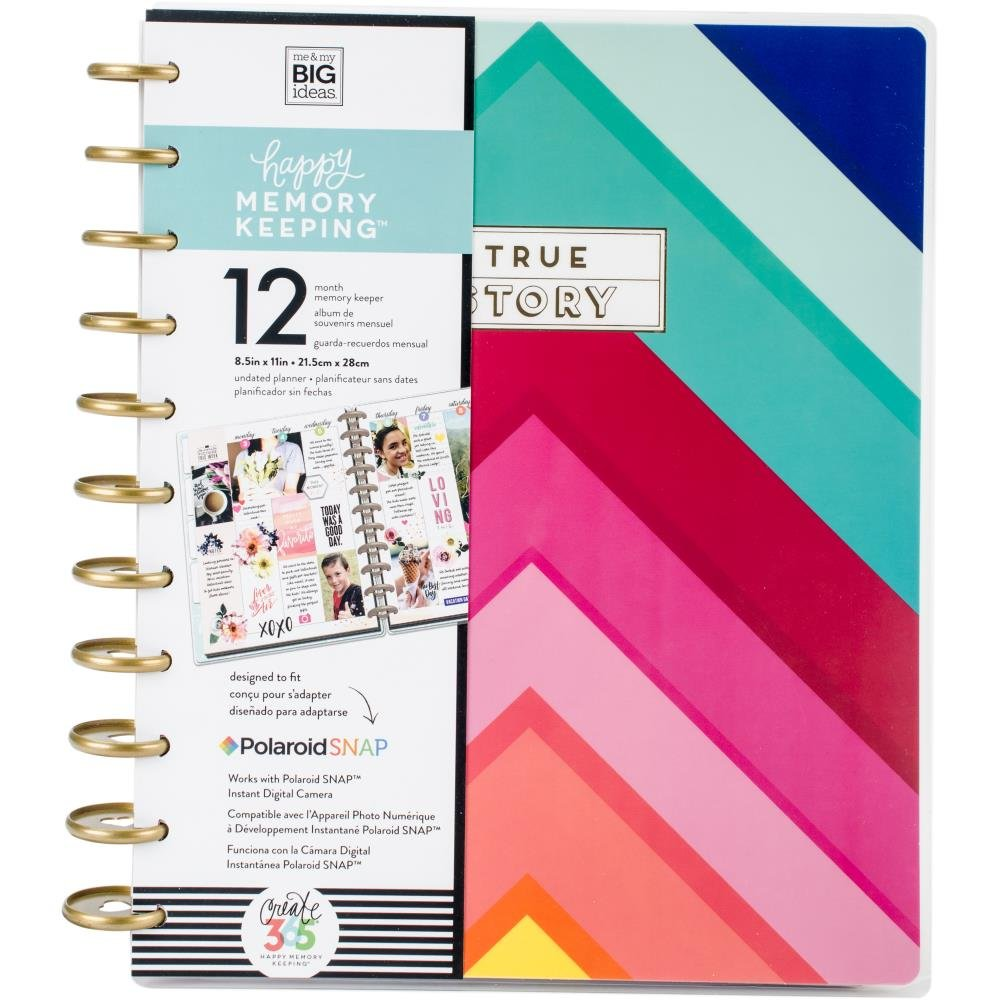 Happy Planner Memory Keeping Undated 12 Month Planner-Brights