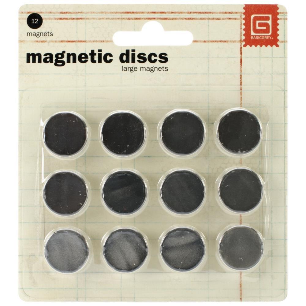 Basic Grey Magnetic Discs-Large