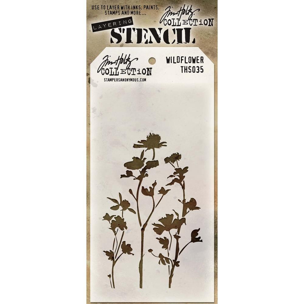 Tim Holtz Layering Stencil-Wildflower