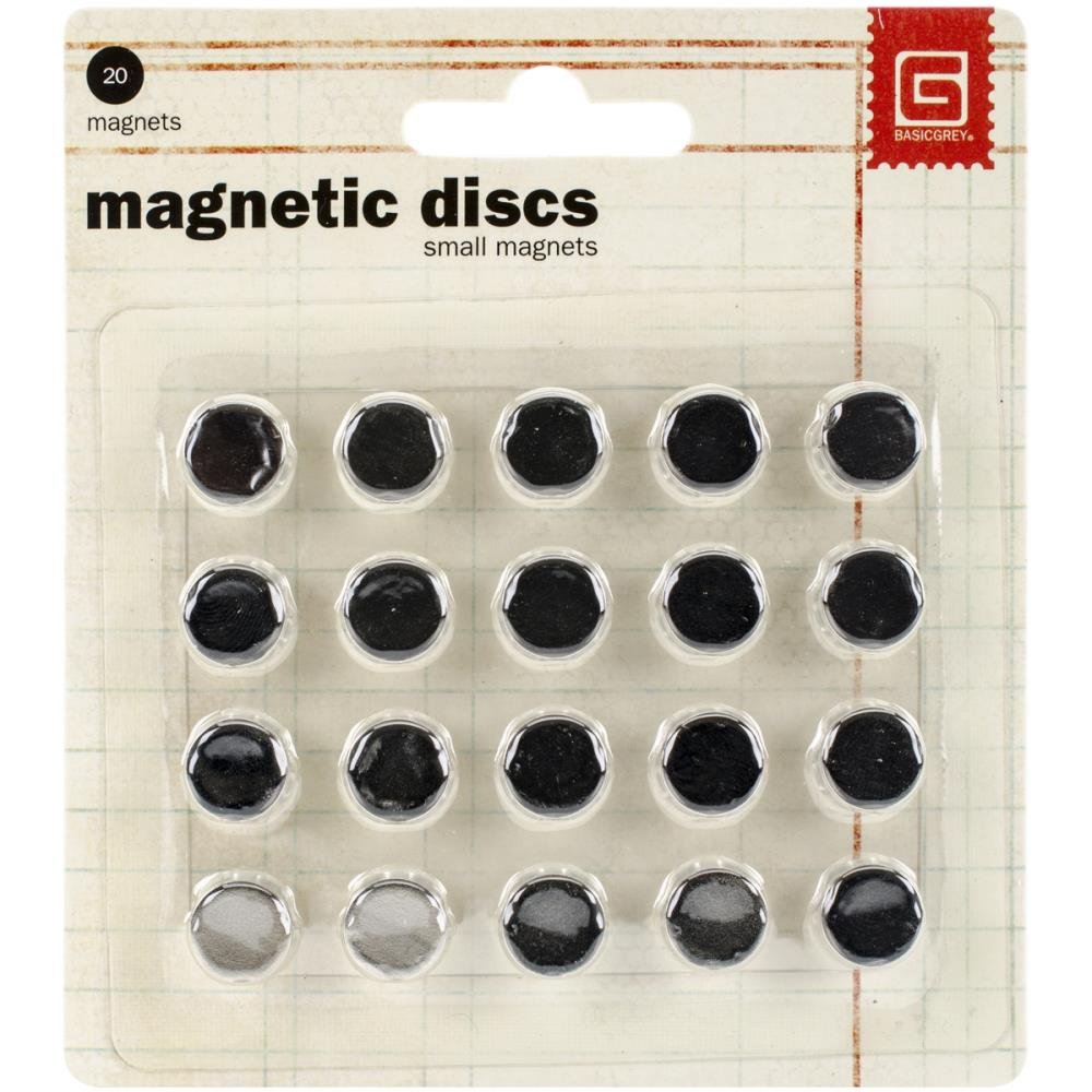 Basic Grey Magnetic Discs-Small