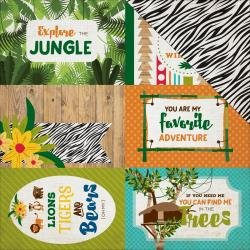 Jungle Safari-4x6 Journaling Cards