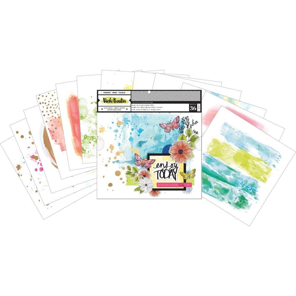 Vicki Boutin Color Kaleidoscope-12 x 12 Mixed Media Backgrounds Pad