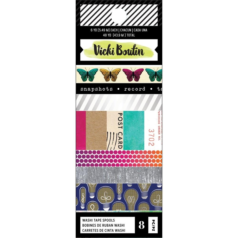 Vicki Boutin Color Kaleidoscope-Washi Tape With Foil Accents