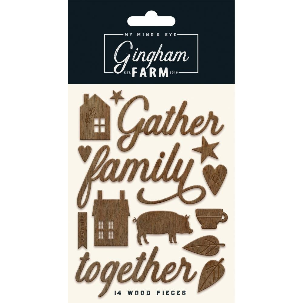 Gingham Farm-Wood Words & Shapes