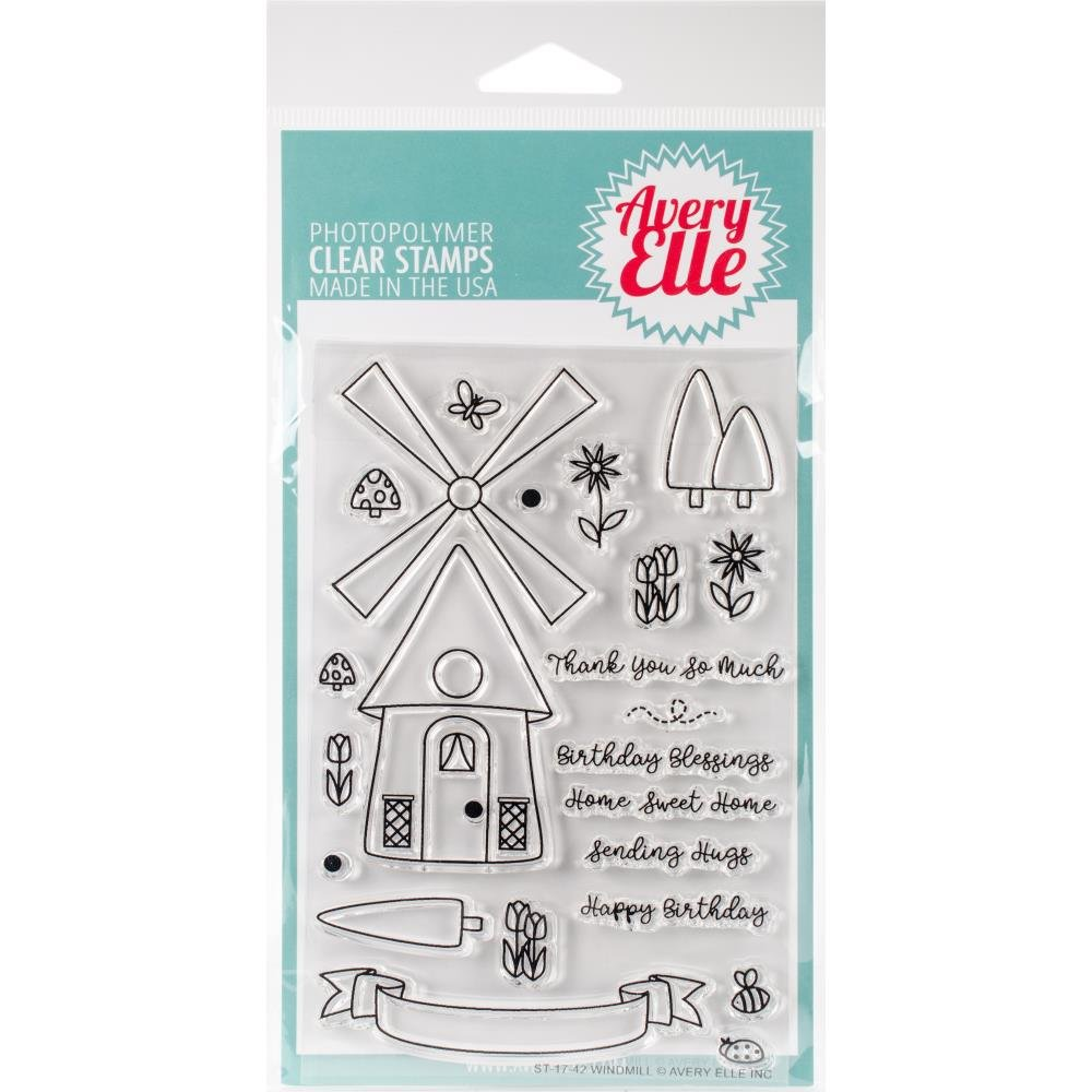 Avery Elle-Windmill Stamp & Die Bundle