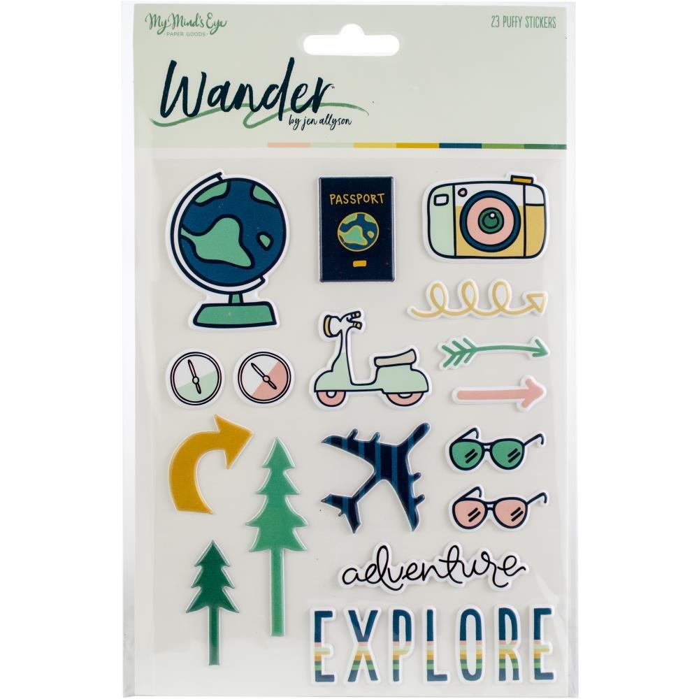 Wander-Puffy Stickers