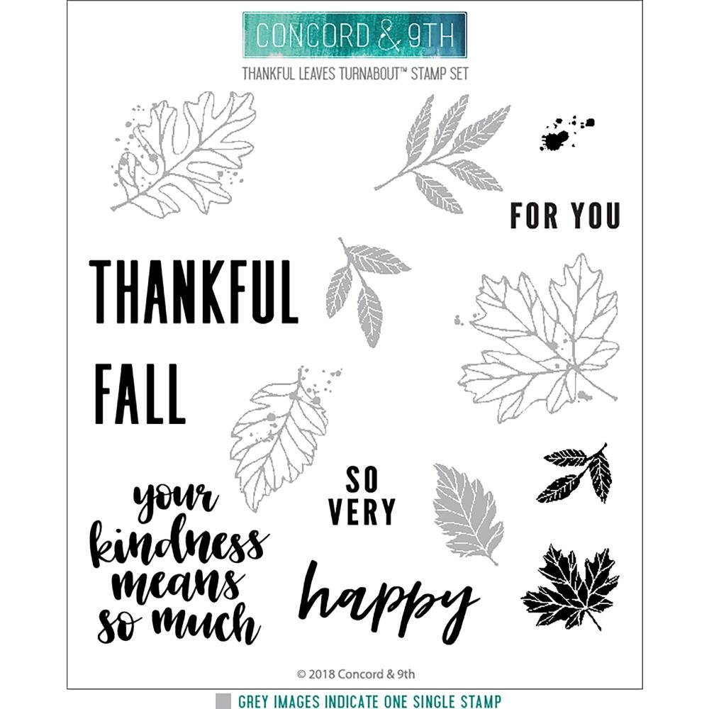 Concord & 9th-Thankful Leaves Turnabout Stamp