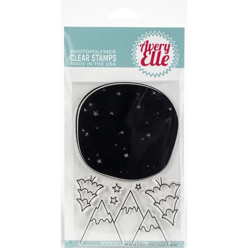Avery Elle-Starry Scene Stamp & Die Bundle