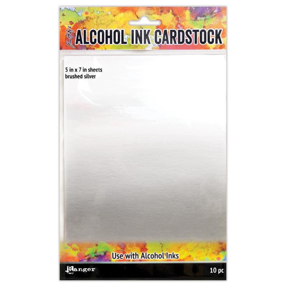 Tim Holtz Alcohol Ink Yupo Paper-Brushed Silver