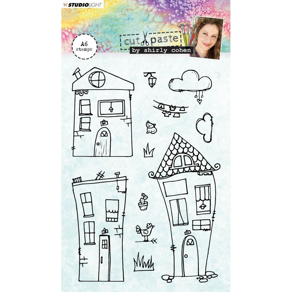 Studio Light Stamp-Wonky Houses (No 3)