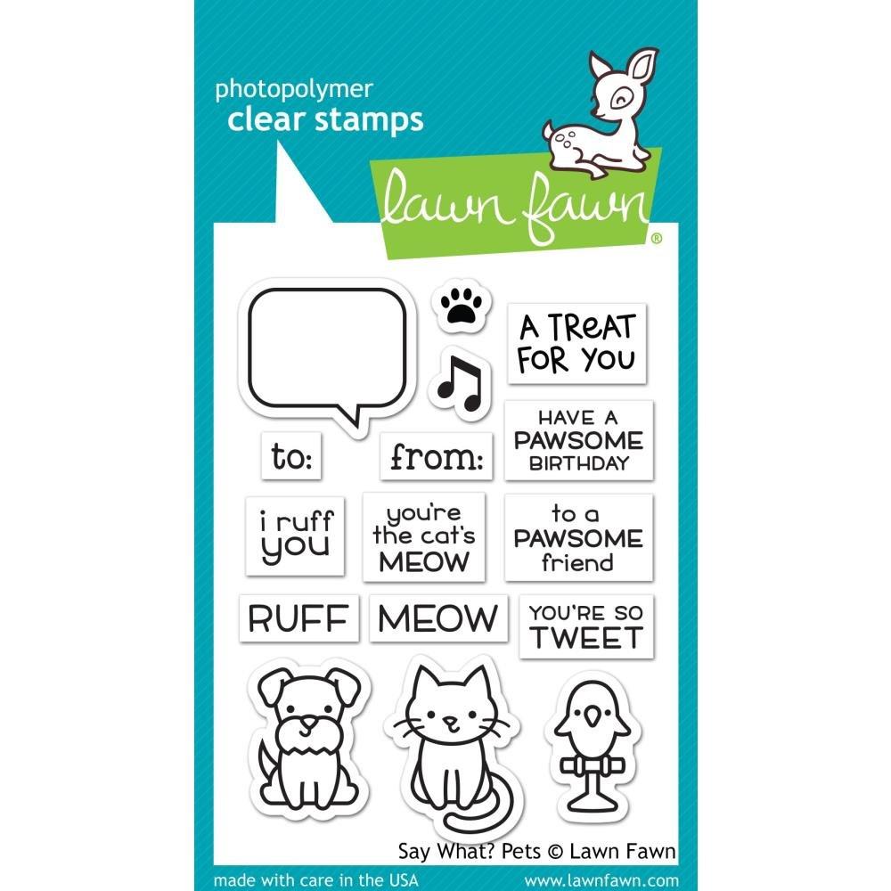 Lawn Fawn-Say What? Pets Stamp & Die Bundle