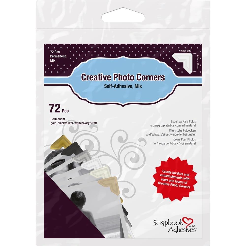 Scrapbook Adhesive Photo Corners-Mix Pack