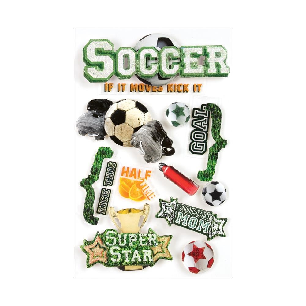 Paper House-3D Soccer Stickers