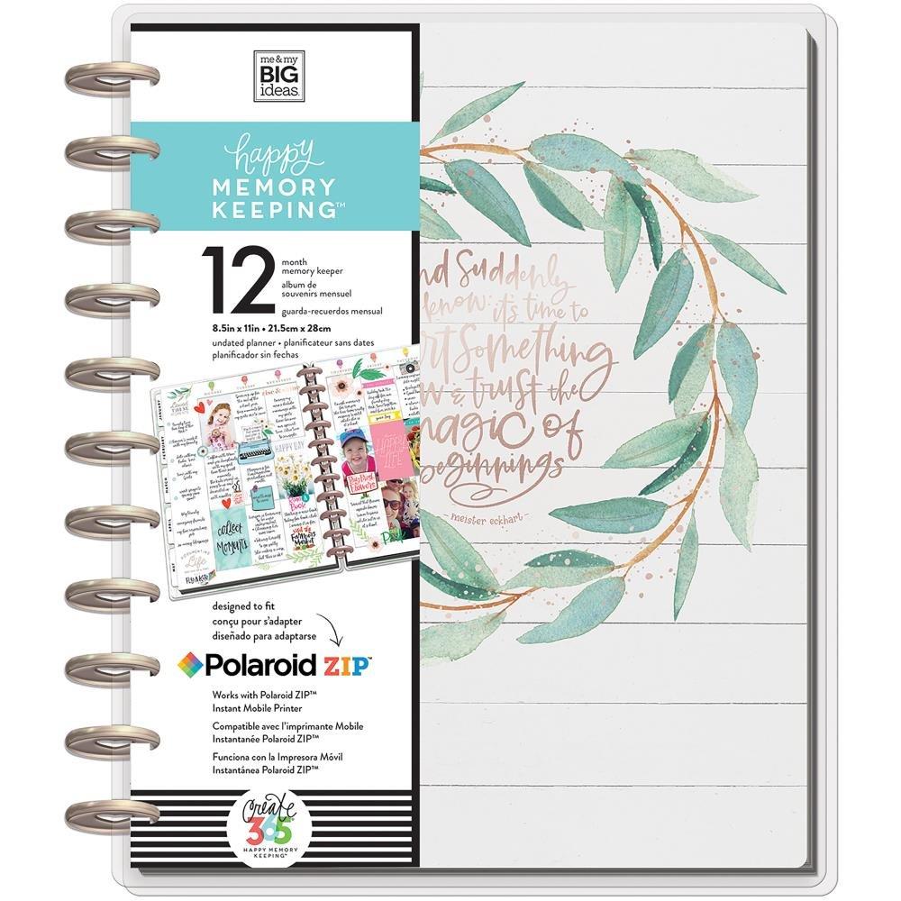 Happy Planner Memory Keeping Undated 12 Month Planner-Rustic