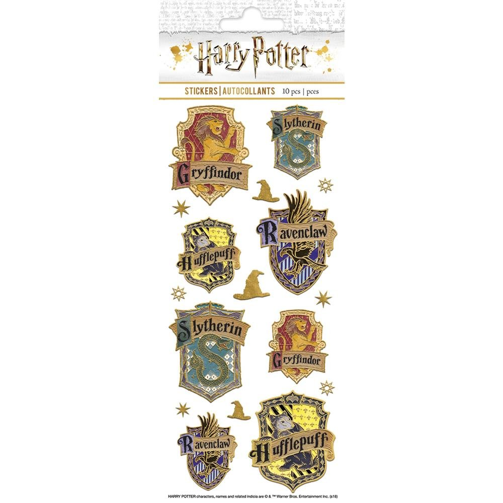 Harry Potter-House Crests Enamel Stickers