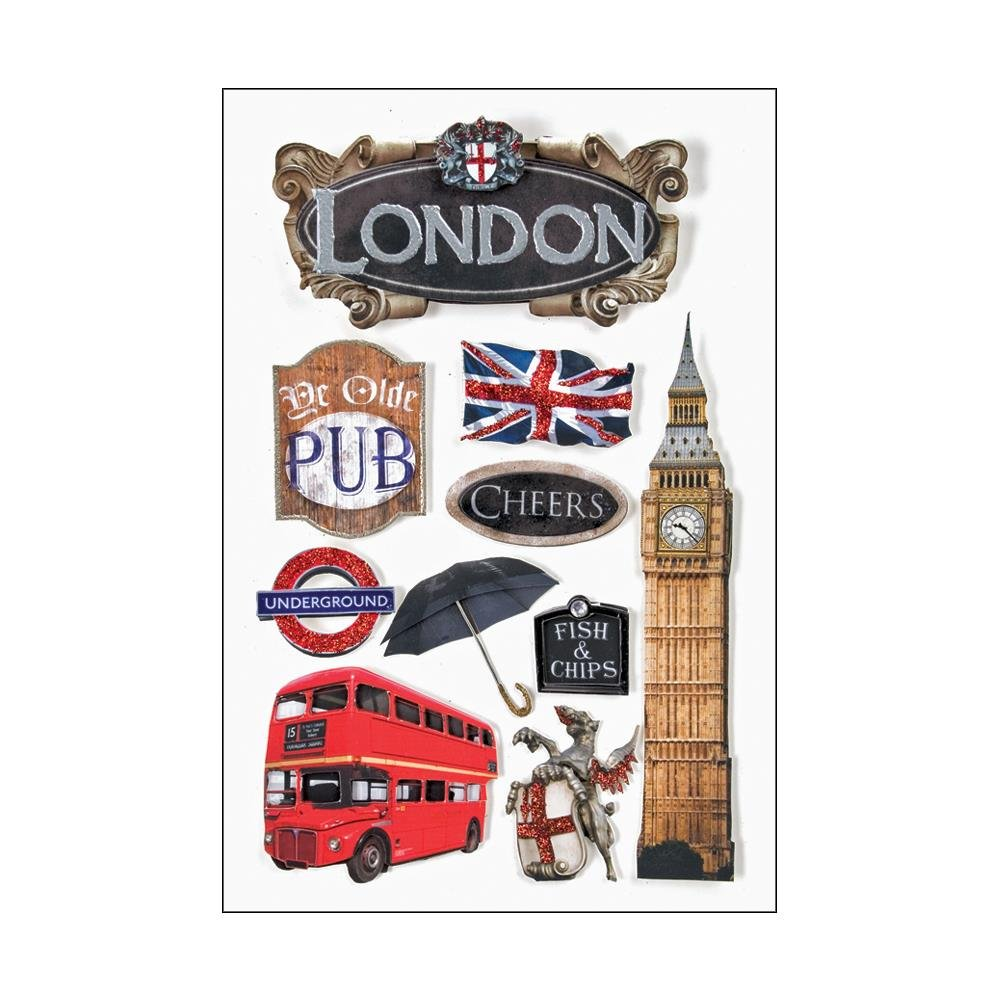 London-3D Stickers