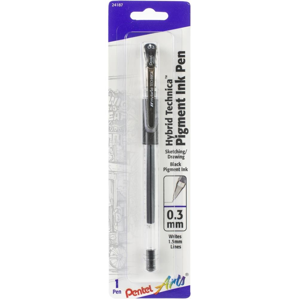 Pentel Hybrid Liquid Gel Pen-Black .3mm