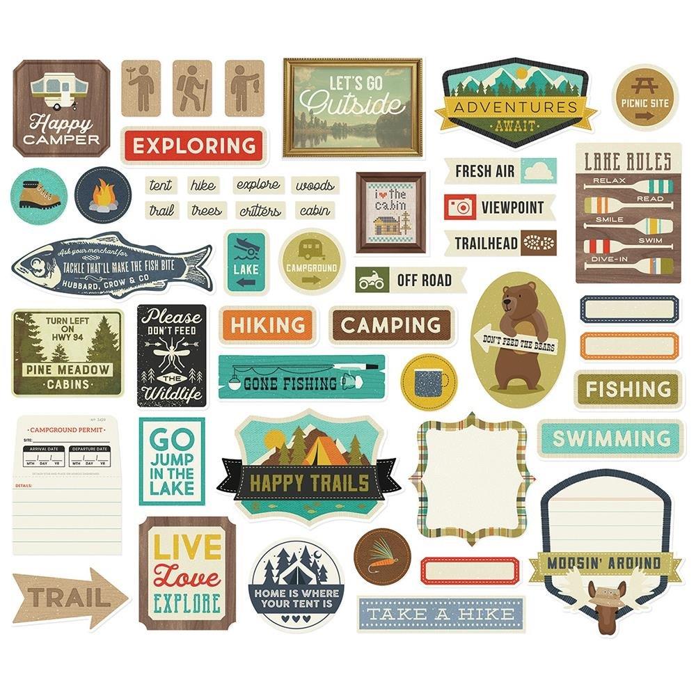Happy Trails-Tags & Frames Diecuts
