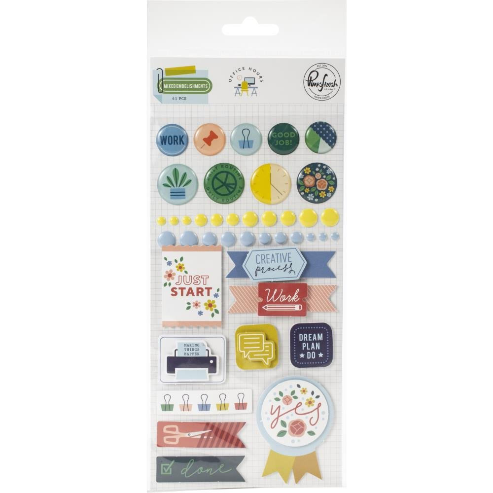 Office Hours Mixed Embellishment Pack