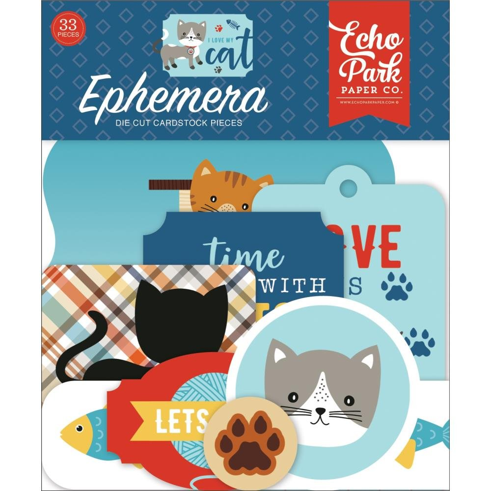 I Love My Cat Ephemera-Icons