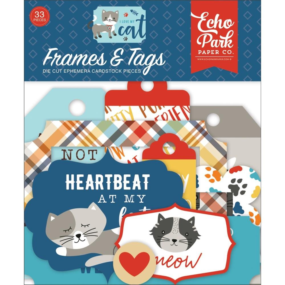 I Love My Cat Ephemera-Frames & Tags